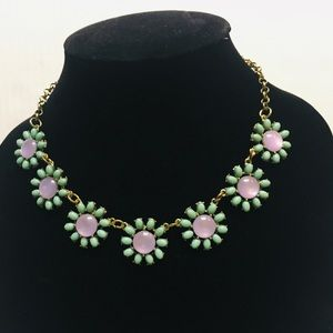 Jewelry - Vintage floral flower daisy choker collar necklace